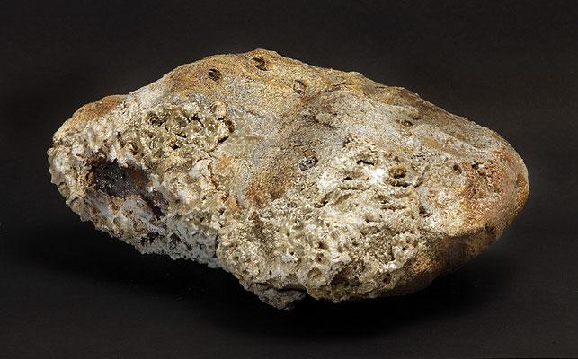 Iceland inspiration V. 40x40x25 cm. Grés et minéraux volcaniques. Vue de dessus