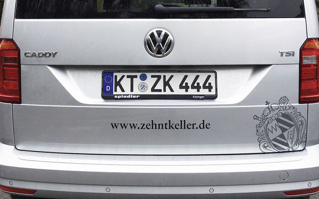Folien-Beklebung Fahrzeug-Heck, Fahrzeugbeschriftung