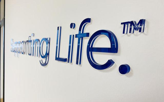 3D-Wandbuchstaben, individuell gelasertes aus Acrylglas mit hochglanzpolierten Kanten, Wandschrift, Wandlogo