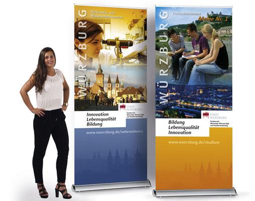 Hochwertige Rollup Premium für die Stadt Würzburg bzw. Roll-Up Comfort Systeme