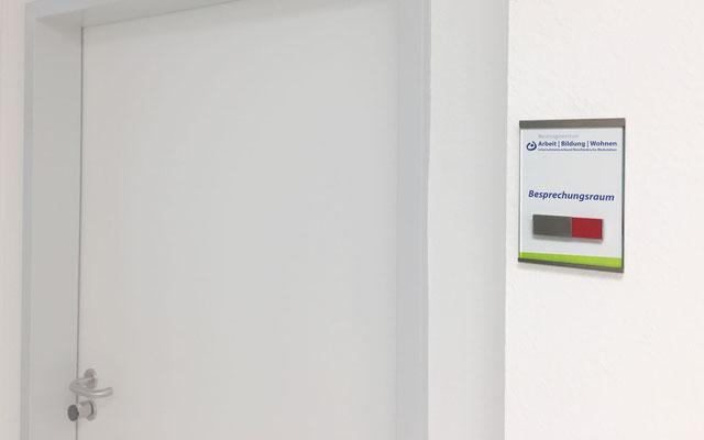 exklusive Türschilder / Büroschilder mit Besetzt-Hinweisschieber