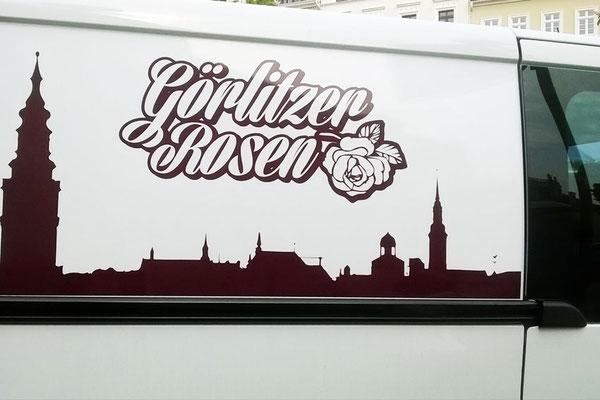 """Fahrzeugbeschriftung für """"Görlitzer Rosen"""""""