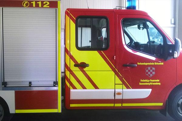 Fahrzeugbeschriftung für Freiwillige Feuerwehr Sonnenberg-Winnenberg