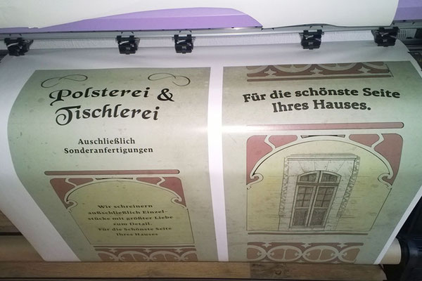 """Filmproduktion """"Auf Wiedersehen Deutschland"""": Zuschnitt sämtlicher Schablonen; ca. 50lf.m Folie"""