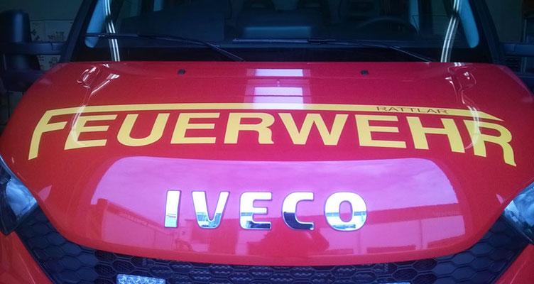 Fahrzeugbeschriftung für Feuerwehr Rattlar