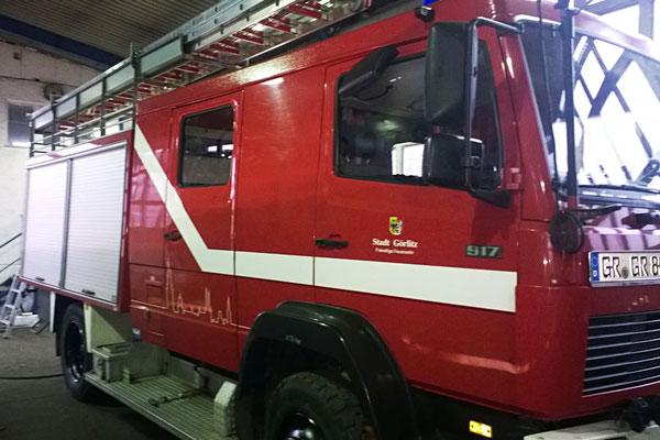 Fahrzeugbeschriftung für Freiwillige Feuerwehr Kunnerwitz