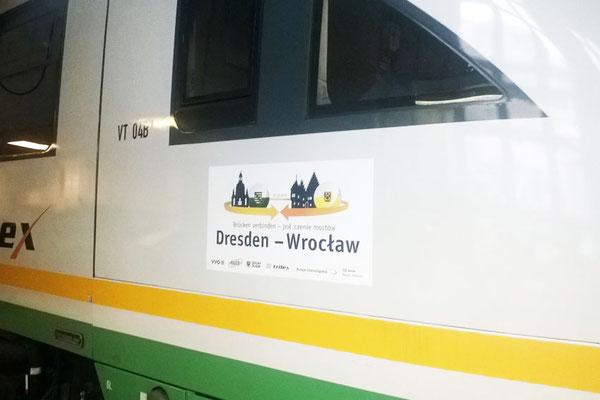 """Beschriftung für DIE LÄNDERBAHN: """"Breslau-Express"""""""