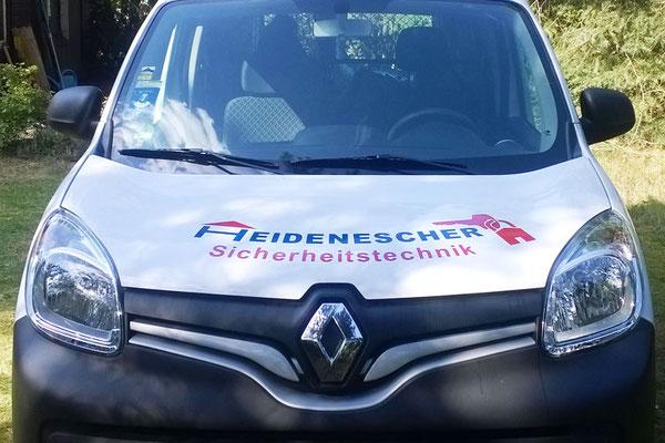 Fahrzeugbeschriftung für Heidenescher Sicherheitstechnik