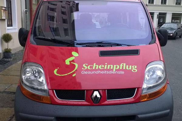 Fahrzeugbeschriftung für Scheinpflug Gesundheitsdienste Görlitz