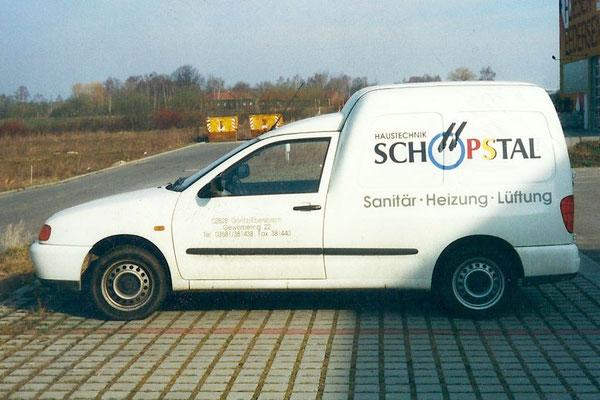 Fahrzeugbeschriftung für Haustechnik Schöpstal