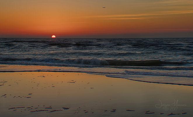 Zandvoort strand zonsondergang - Zandvoort beach sunset.