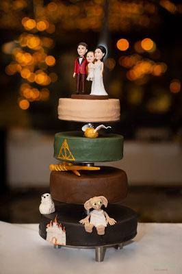 Harry Potter Hochzeitstorte von Colina's Bakery