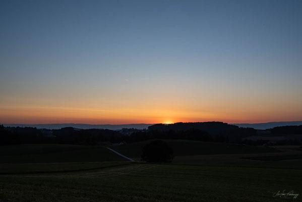 Sonnenuntergang in Schwarzenburg