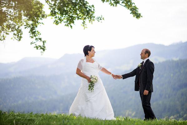 Brautpaarshooting/Hochzeit Rüschegg