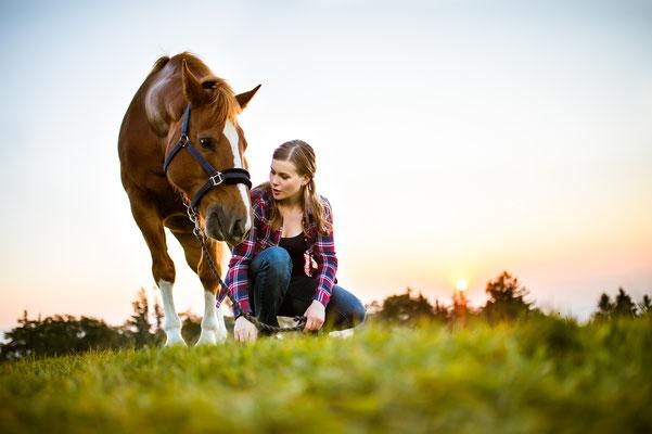 Fotoshooting mit Pferd in Schwarzenburg