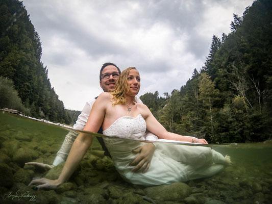 Brautpaar over/under Gopro