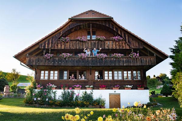 Familienfotoshooting im Schwarzenburgerland