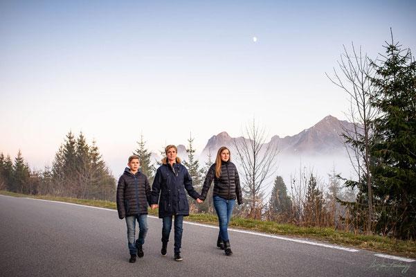 Natürliches Familienfoto
