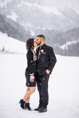 Winter Hochzeit Schwarzsee