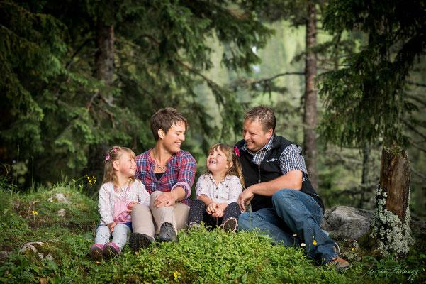 Familienfoto Naturpark Gantrisch