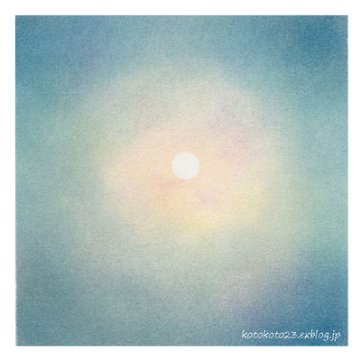 月(2013年・早春)150×150mm