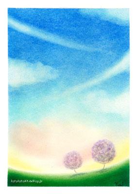 今日の色 あしたの空(2013年・早春)405×300mm