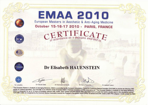EMAA 2010 Certificate
