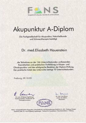 FANS - Akupunktur A-Diplom