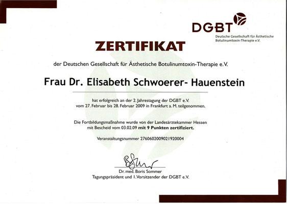 DGBT - Zertifikat