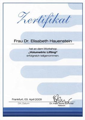 "Zertifikat: ""Volumetric Lifting"""