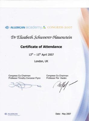ALLERGAN Academy - Certificate of Attendance