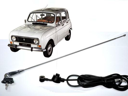 Antenne de radio t/élescopique de voiture classique chrome et acier inoxydable.