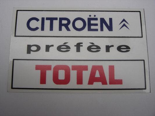 Autocollant Citroën Préfère Total Pour Vitre Arrière Automobilia