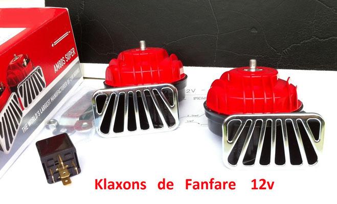 klaxon boule 12v rvl61 pi ces accessoires voitures anciennes. Black Bedroom Furniture Sets. Home Design Ideas