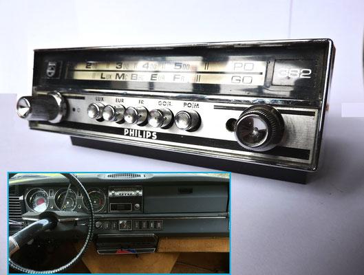 autoradio antenne console rvl61 pi ces accessoires voitures anciennes. Black Bedroom Furniture Sets. Home Design Ideas