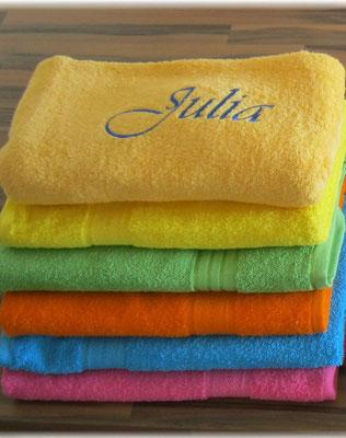 Handtuch Bestickung