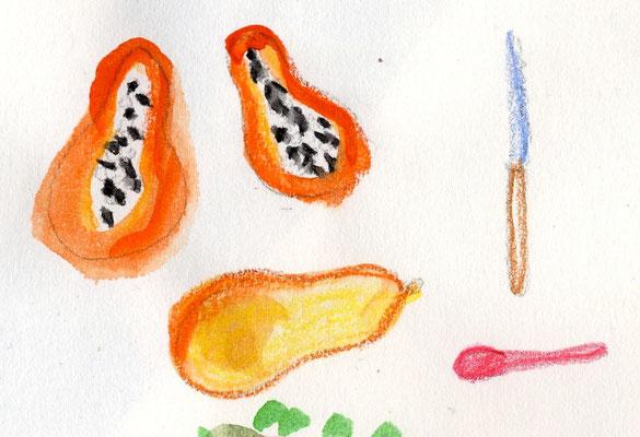 1. Papaya! auf der Ilha do Mel