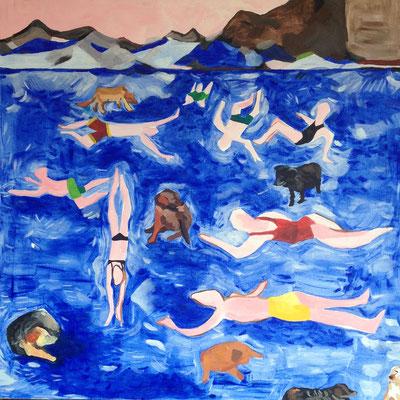 Schwimmer und Streuner (80 x 80cm)
