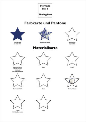 Farbkarte und Materialkarte