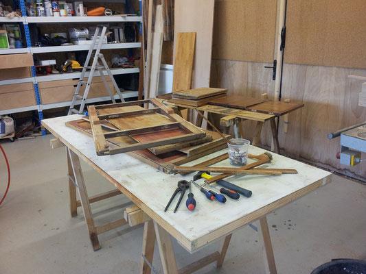 restauration meuble secrétaire ebeniste menuisier Morbihan Vannes Elven