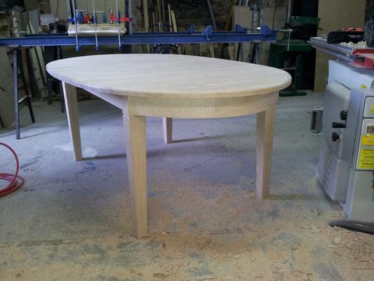 table chataignier fabricant meuble Morbihan