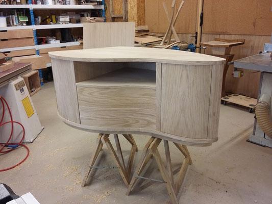 meuble télévision TV chêne fabricant meuble Morbihan