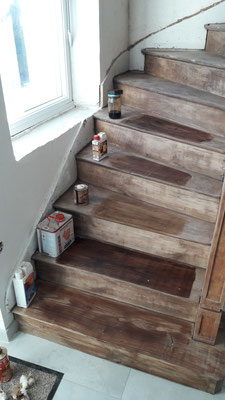 restauration escalier ebeniste menuisier Morbihan Vannes Elven