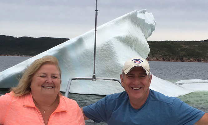 Frank and Carol Brown near an iceberg!