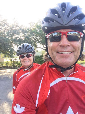 Nicole Dussault St-Maurice and Charles kicked off the celebrations with an 80 Km ride in Pinellas and Pasco County with Suncoast Cycling!