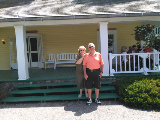 Rick and Brenda McLauchlan at the late Prime Minister Mackenzie King's Estate in the Gatineau Hills.