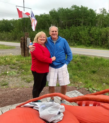 Frank and Carol Brown with a super size Newfoundland lobster!