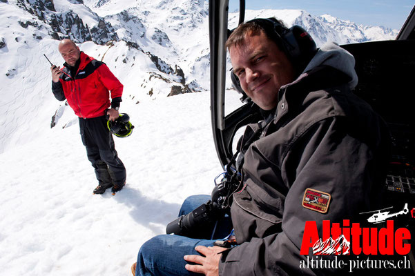 David Maréchal, photos aériennes - en arrière-plan Christophe