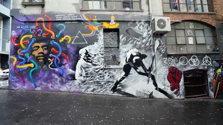 Musical Street art in Mebourne