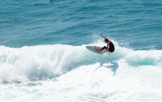 Enjoying the surf at Bondi Beach
